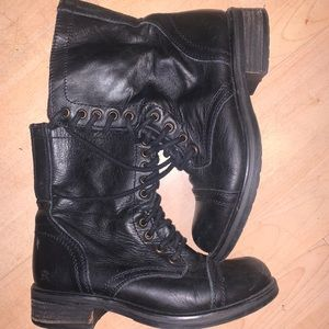 Steve Madden Troopa leather boots size 7.5